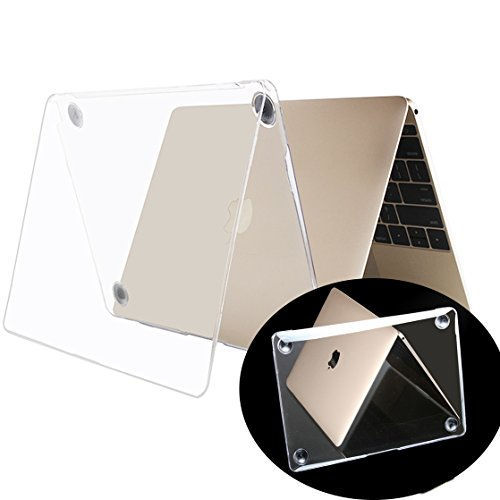 Millimeter New Apple Macbook Case 12″ A1534 with Retina Display (2015 Release ) Transparent Mac 12 inch case Clear Crystal Cover Antiscratch Shell 2016 Rose Golden Shell Sleeves Covers