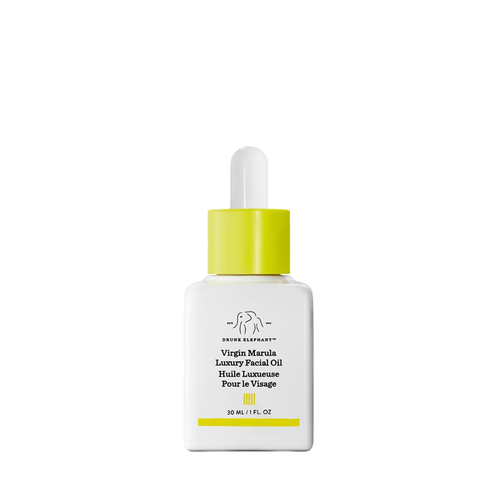 Drunk Elephant Virgin Marula Luxury Facial Oil - Gluten-Free and Vegan Anti-Aging Skin Care and Face Moisturizer (30ml/1 fl oz)