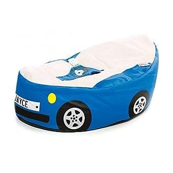 Fabulous Rucomfy Luxury Cuddle Soft Racing Car Gaga Baby Bean Bag Royal Blue Machost Co Dining Chair Design Ideas Machostcouk