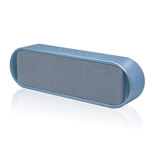 Portable Bluetooth Speakers, Bluetooth 5.0 Wireless Speaker with 6W Stereo Sound, Built-in Mic, 8H Playtime Outdoor Speakers, Stylish Design Suitable for Travel, Party, Camping(Blue)