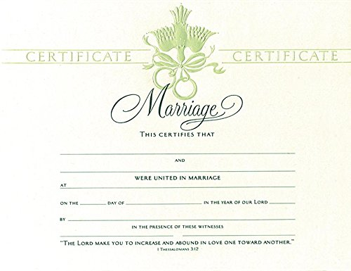Certificate-Marriage (Dove Embossed)