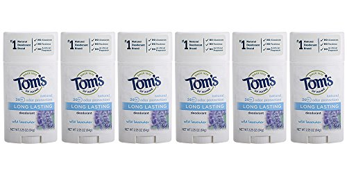 - Tom's of Maine Natural Deodorant Stick, Aluminum-free, Lavender, 2.25 Ounce Stick, Pack of 6