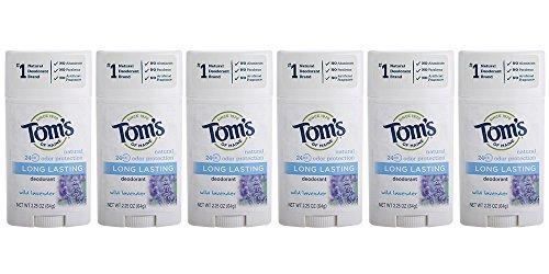 Aluminum Free Deodorants - Tom's of Maine Natural Deodorant Stick, Aluminum-free, Lavender, 2.25 Ounce Stick, Pack of 6