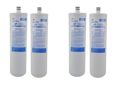 3M Aqua-Pure Under Sink Replacement Water Filter – Model AP-DW80/90 (2-(Pack))