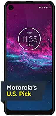Motorola One Action - Unlocked Smartphone - Global Version - 128GB - Denim Blue (US Warranty) - Verizon, AT&T, T-Mobile, Sprint, Boost, Cricket, Metro