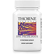 Thorne Research - Zinc Picolinate - Highly Absorbable Zinc Supplement to Support Growth, Immune Function, and Reproductive Health - 60 Capsules