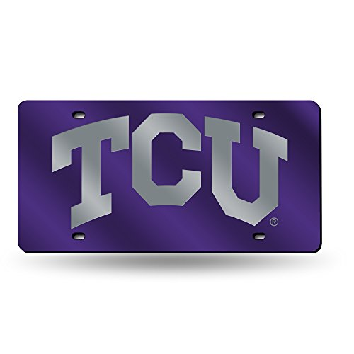 Rico Industries Texas Christian License Plate Tag in Purple