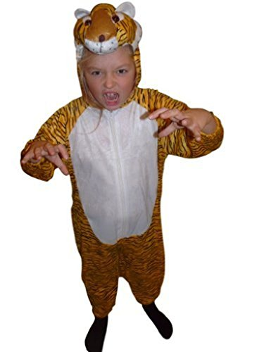 Homemade Christmas Costumes Children (Fantasy World Tiger Halloween Costume f. Children/Boys/Girls, Size: 6, An28)