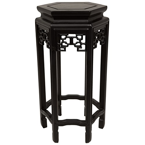 Oriental Furniture 20'' Hexagon Plant Stand by ORIENTAL FURNITURE