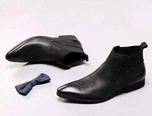 a4e64408fc9f ... Herren Lederschuhe Herren Lederschuhe High-Top-Schuhe wies britischen  Stil Martin Stiefel kurze Stiefel ...