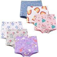 Closecret Toddler Undies Little Girls' Soft Cotton Boyshort Panties Baby Underwear (Pack o