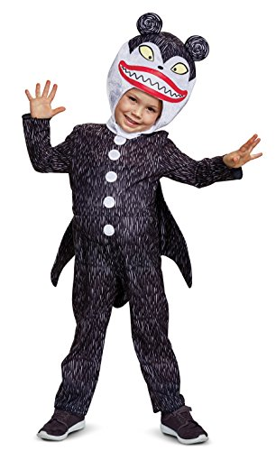 Disguise Scary Teddy Classic Toddler Child Costume, Black, Size/(2T) ()