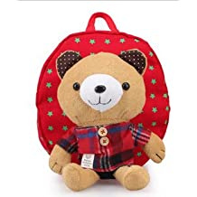 V&J Very Cute Backpack Bag Prevent Lost Kids Backbag (Red)