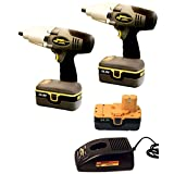 LA68610 Longacre Cordless Impact Wrenchs 2 Impact Wrenches with 1 Charger & 3 Batteries
