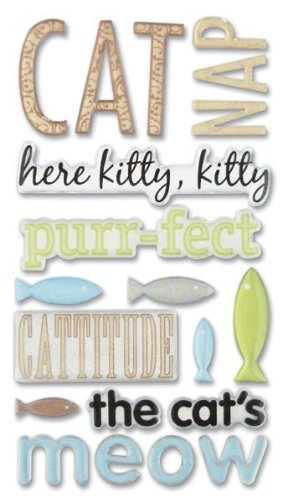 (Sticko 626561 Phrase Cafe Epoxy Stickers - Cat)