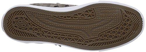 Dockers by Gerli 36AY61 - zapatillas deportivas altas de lona infantil marrón - Braun (braun 300)