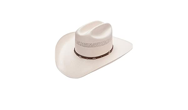 0d59ba4bcb8ac Stetson Men s Lobo 10X Straw All-Around Vent Star Concho Band Cowboy Hat  Natural 6 7 8  Amazon.ca  Clothing   Accessories