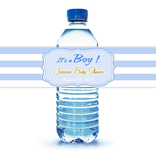 It's a Boy Baby Shower Water Bottle Labels, 100 Personalized 8