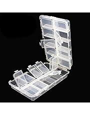 OriGlam Premium 20 fack tackellådor, tackla verktygslådor, plastlåda förvaringsbox med justerbara avdelare, förvaringsbox för fiske