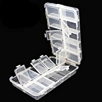 OriGlam Premium 20 Compartments Tackle Boxes, Tackle Utility Boxes, Plastic Box Storage Organizer Box with Adjustable…