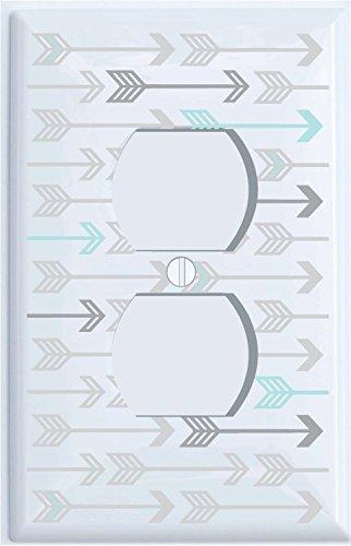 Amazon com : Seafoam Green and Grey Arrow Print Pattern