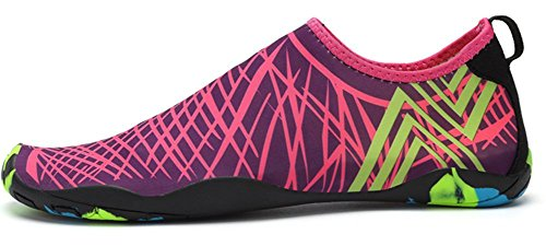 Surf Buceo Rápido de Zapatos Mujeres Playa Rosa Rojo Piscina Secado Natación Descalzo Unisex Calcetines Agua Para Yoga de Eagsouni A Hombres Calzado de atTwqP