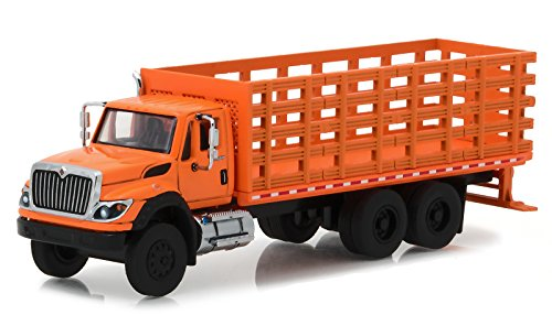 2017 International Workstar Platform Stake Truck Orange SD Trucks Series 2 1/64 Diecast Model by Greenlight 45020 B