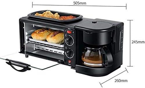 QWSA Mini Four électrique 9L Grille-Pain Multifonction 1050 (W) avec revêtement antiadhésif Poêle à Frire et Machine à café avec poignée Anti-brûlure avec minuterie