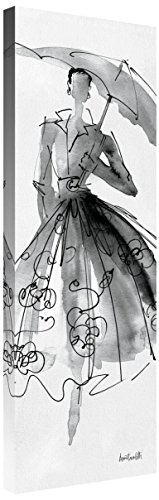 Global Gallery Anne Tavoletti 'Fashion Sketchbook VI' Giclee Stretched Canvas Artwork 12 x 36