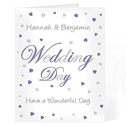 Personalizado - Tarjeta de felicitación de boda personalizada ...