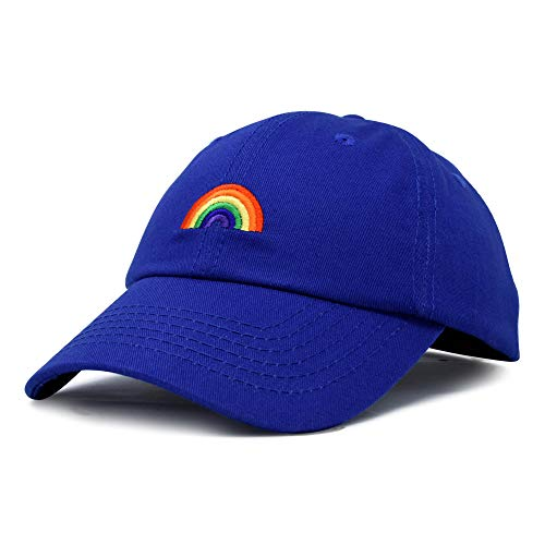 (DALIX Rainbow Baseball Cap Womens Hats Cute Hat Soft Cotton Caps in Royal Blue)