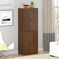 Storage Cabinet - Northfield Alder - Spacious, Ample Storage for Kitchen Accessories and Pantry Items Behind Four Doors - Ergonomic Door Handles for Easy-Grip Access - Easy Assembly (Northfield Alder)