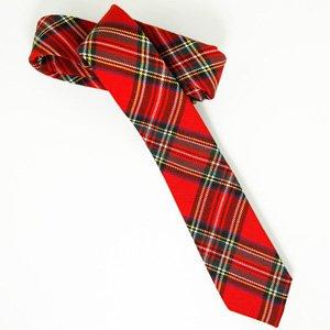 0153ee9e1e959 Pacotille Corner - Cravate femme rouge écossaise: Amazon.fr ...