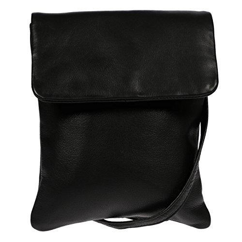 Christian Wippermann®, Borsa a spalla uomo nero nero 20x24x3 cm