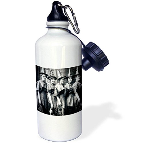 3dRose Scenes from the Past Ephemera - Vintage Halloween Witches Coven Early 1900s Scary - 21 oz Sports Water Bottle (Early Vintage Scene)