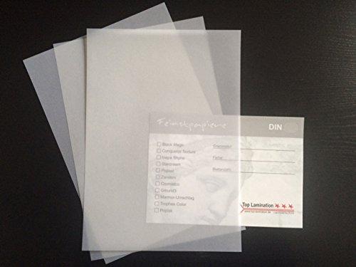 100 Blatt A3 Transparentpapier 100 g/qm - weiß klar von Top Lamination Laminiertechnik - perfekt für Einladungen, Karten, Architektenzeichnungen und zum Basteln