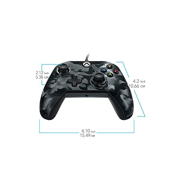 PDP Stealth Series Wired Controller for Xbox One, Xbox One X and Xbox One S, Phantom Black