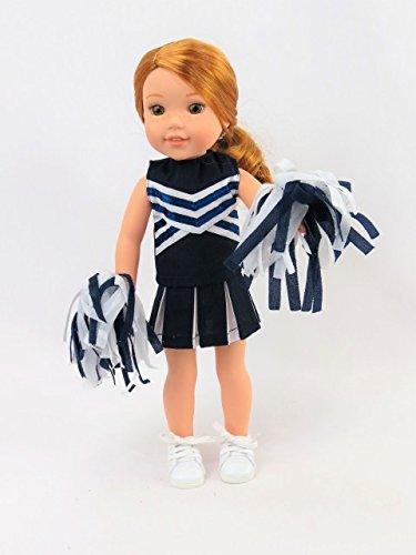 Navy Blue Cheerleader - Fits 14 Inch Wellie Wisher Dolls | 14 Inch Doll Clothing