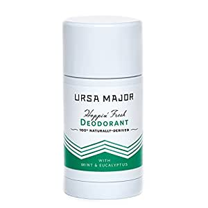 Ursa Major Hoppin' Fresh Deodorant - 100% Natural, Aluminum-Free and Non-Staining Deodorant That Eliminates Odor and Absorbs Moisture with Peppermint, Eucalyptus & Rosemary (2.6 oz)