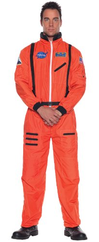 Men's Uniform NASA Space Astronaut Jumpsuit Halloween Fancy