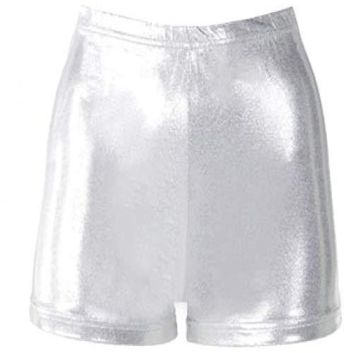 Cheer Fantastic Metallic Boy-Cut Briefs Size Youth Small Silver