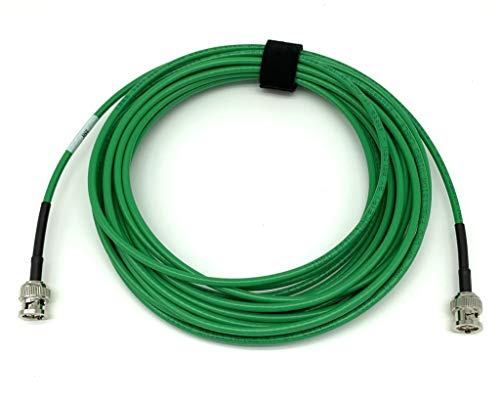 AV-Cables 12G 4K HD SDI BNC - BNC Cable Belden 4855R Mini RG59 (15ft, Green)