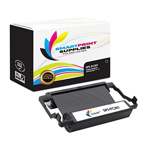 (Smart Print Supplies Compatible Brother PC201 Black Ribbon Cartridge for Intellifax 1170 1270 1270E 1570MC 1575MC, MFC 1770 1780 1870MC 1970MC Printer 5M Characters)