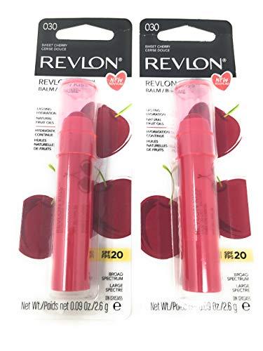 Revlon Kiss Lip Balm, Sweet Cherry 030 .09 oz (Pack of 2)