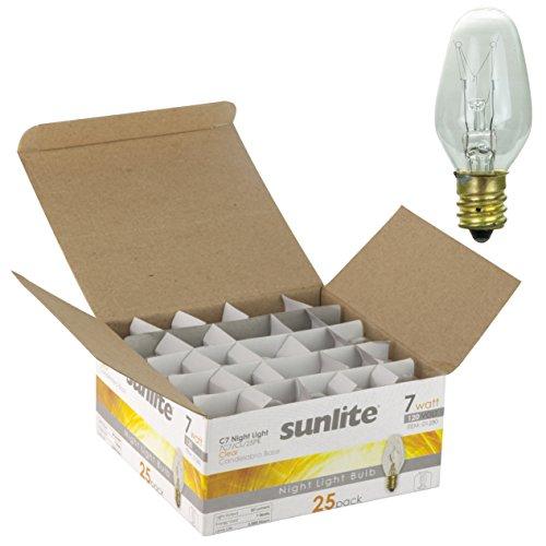Sunlite 7C7 CL 25PK Incandescent