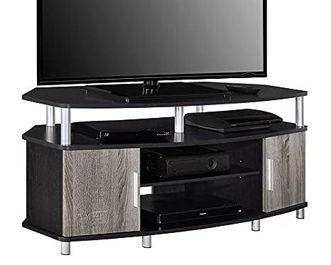 Amazon Com Corner Tv Stand Entertainment Media Center Console Table