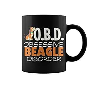 Mug Obd Beagle Lady Grandpa Grandma Dad Mom Lady Man Men Women Woman Girl Boy Dog Lover 11 oz Funny Coffe Gift Mug
