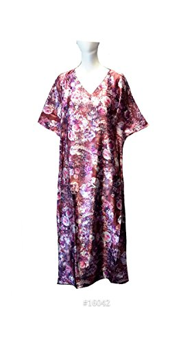Mujeres 100% Polyester Woven Satin Long Kaftan. One Size Fit UK 10-32