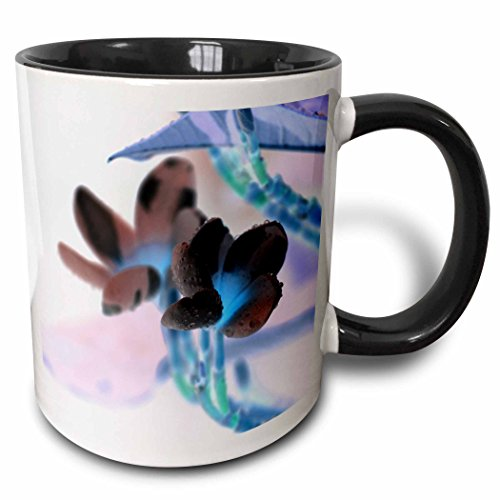 3dRose Susans Zoo Crew Photography Flowers - lei invert flower pastels - 15oz Two-Tone Black Mug (mug_184434_9) (Tone Two Flower Lei)