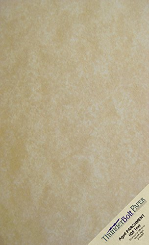 "50 Old Age Parchment 60 Pound Text (=24 Pound Bond) Paper Sheets - 8.5"" X 14"" (8.5X14 Inches) Legal